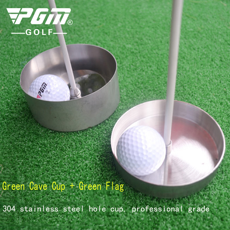 Pgm Authentic Professional Golf Cave Cup 304 Stainless Steel Green Training Supplies Cave Cup 2cm 4cm Distribution Green Flag