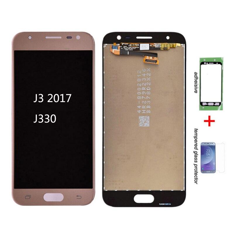 Original para samsung galaxy j3 2017 j330 j330f j330g display lcd e tela de toque digitador assembléia j3 pro 2017 duplo sim lcd