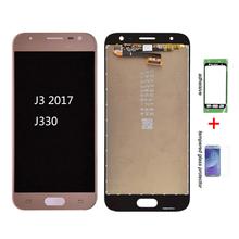 Oryginalny do Samsung Galaxy J3 2017 J330 J330F J330G wyświetlacz LCD i ekran dotykowy Digitizer zgromadzenie J3 Pro 2017 podwójny SIM LCD tanie tanio Pojemnościowy ekran Nowy 1280x720 3 For Samsung Galaxy J3 2017 J330 Blue Pink Gold Black Test one by one Bubble bags with foam box