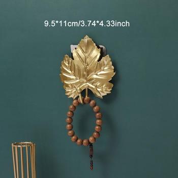 Leaves Shape Iron Hook Nordic Wall Decoration Leaf Key Watch Bags Jewelry Haning Hook Mutifuctional Wall Hanger Rack 18