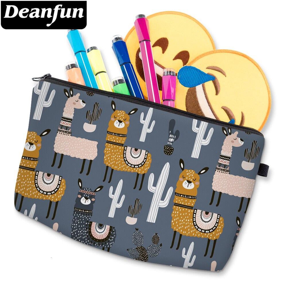 Deanfun Gray Llama Printed Small Makeup Bag Fantastic Cosmetic Bag For Women Waterproof Purse Makeup Bags D51609