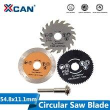 XCAN diamètre 54.8mm haute qualité Mini lame de scie circulaire lame de coupe en bois