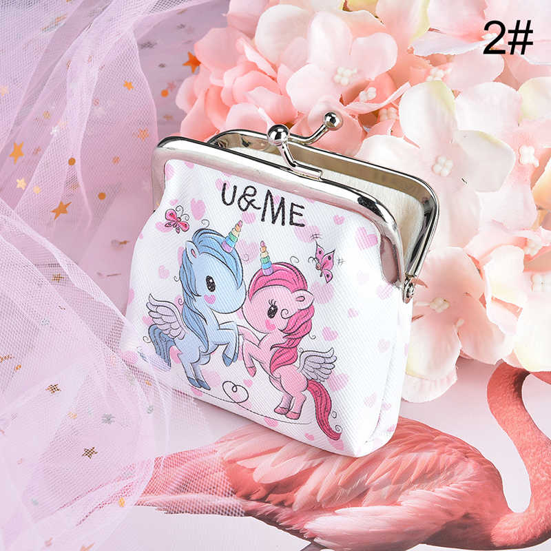 Portemonnee Schattige Kleine Tas Clutch Portemonnee Nul Portemonnee Mode Tas Vrouwen Cartoon Eenhoorn Flamingo
