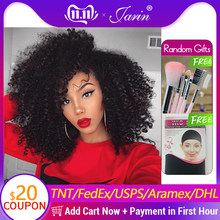 JARIN Peruvian Kinky Curly Hair Weave 3 Bundles With Closure Human Hair Weaving With 4*4 Lace Closure Top Remy Peruvian Hair(China)