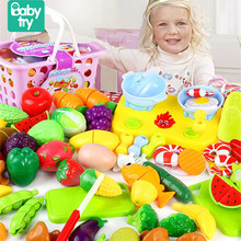 2020 Pretend Play Plastic Food Toy Cutting  Fruit Vegetables food Pretend Play Children for Children Xmas Birthday Gifts new pretend play plastic food toy cutting fruit vegetable food pretend play kitchen food toy children for children birthday gift