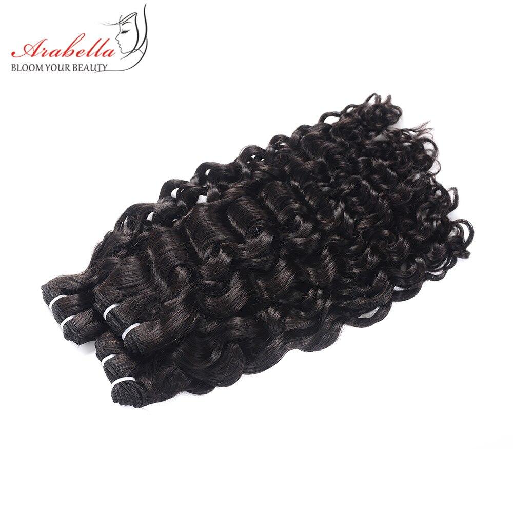 Super Double Drawn Water Wave Hair Bundles With Closure Pre Plucked Bleached Knots Arabella Virgin Hair  Bundles 6