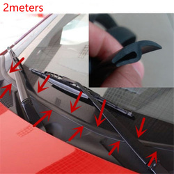 2 Meters Car Rubber Seal Front Rear Windshield Sunroof Seal Strips Dustproof seal Strip For Auto Car seal Dashboard Windshield