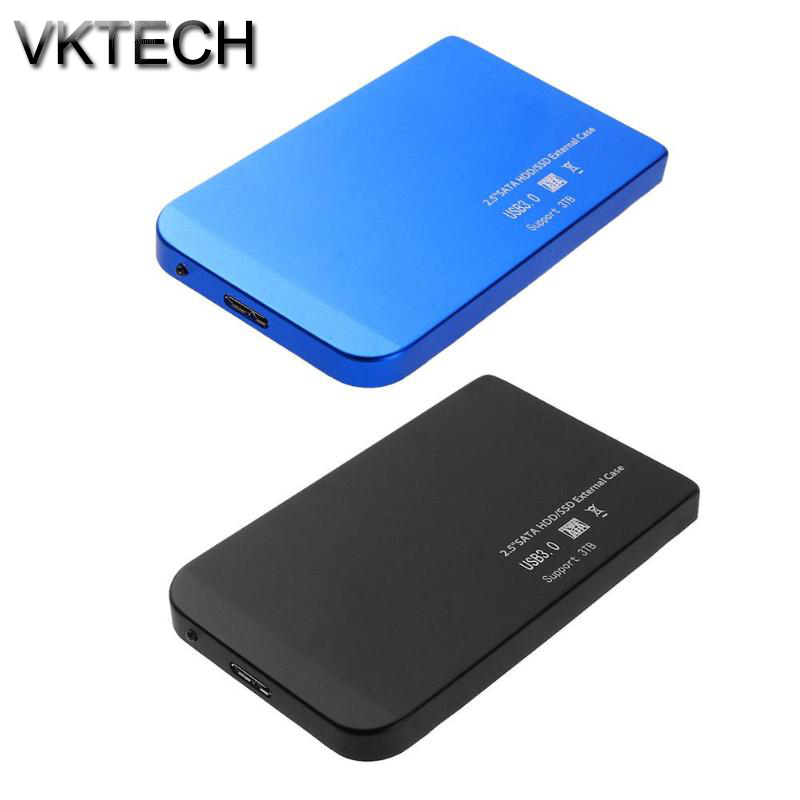 "VKTECH Aluminum Alloy 2.5"" USB 3.0 to SATA External Hard Drive Disk Enclosure HDD Case 5Gbps/s HDD Enclosure High Speed SSD Box"