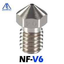 Mellow NF-v6 chapeado bocal de cobre durável reduzir a vara para impressora 3d hotend bocais para m6 v6 dragão hotend blv mgn cubo voron