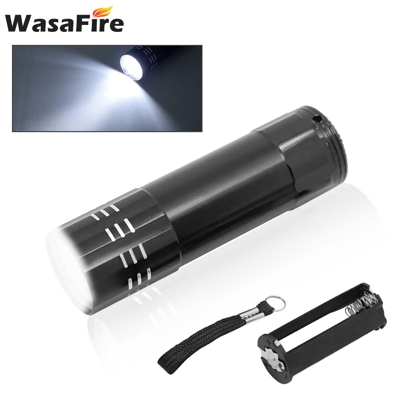 New Pocket Mini LED Flashlight Portable Ultra Powerful Bright 9 LED Torch Flashlights Small Hand Camp Night Lights Lantern