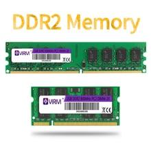 Ddr2 2 2gb 667/800mhz PC2-6400S ram do computador portátil do desktop 240-pino 1.8v dimm para intel e amd garantia compatível da memória do computador