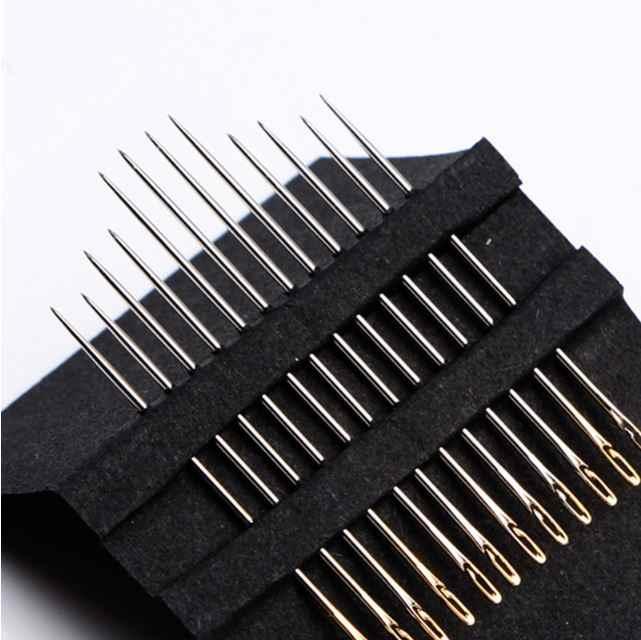 Agujas de coser a mano 12 unidades agujas de coser de acero inoxidable