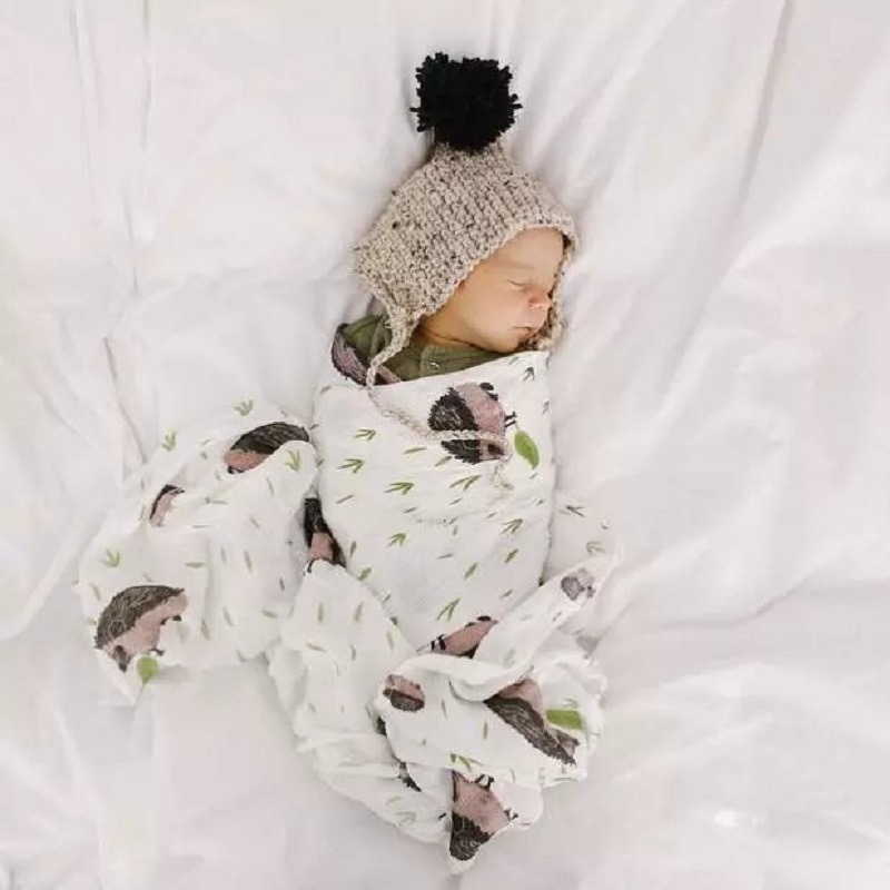 Newborn High Quality Bamboo Cotton Baby Blankets Soft Infant Muslin Swaddle Wrap Versatile Saliva Towel Scarf Bibs Baby Stuff