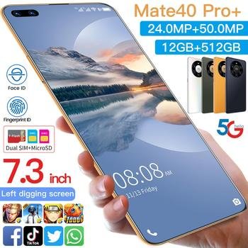 Global Version HUAWE Mate40 Pro+ Smartphone 7.3 Inch Full Screen Deca Core 6000mAh 12GB 512GB 4G LTE 5G Network Mobile Phone