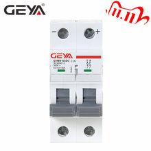 GEYA na szynę Din DC MCB 6KA 2P 500V Mini wyłącznik instalacyjny DC 6A 10A 16A 20A 25A 32A 40A 50A 63A MCB dla solarny PV system
