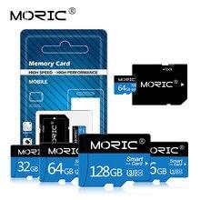 Cartão de memória flash da classe 10 do cartão de memória do flash do cartão 8gb 16gb 32gb 64gb de moric micro sd para o adaptador livre do smartphone/câmera