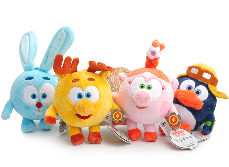 Cartoon Plush Smesharik Russian Keychains Pendants Pin Kod  Game Movie Gogoriki Kikoriki Village Happy Ball Toys For Kids