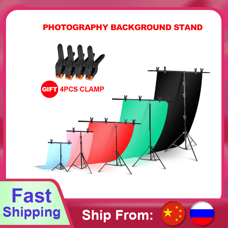 Background Frame Photography Backdrop T-shaped Background Support Stand System Metal backgrounds for photo studio Multiple size(China)