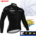 STRAVA 2021 Summer Team Cycling Jersey Bicycle Long Sleeve Cycling Clothing MTB Mountain Bike Wear clothes maillot Sport clothes