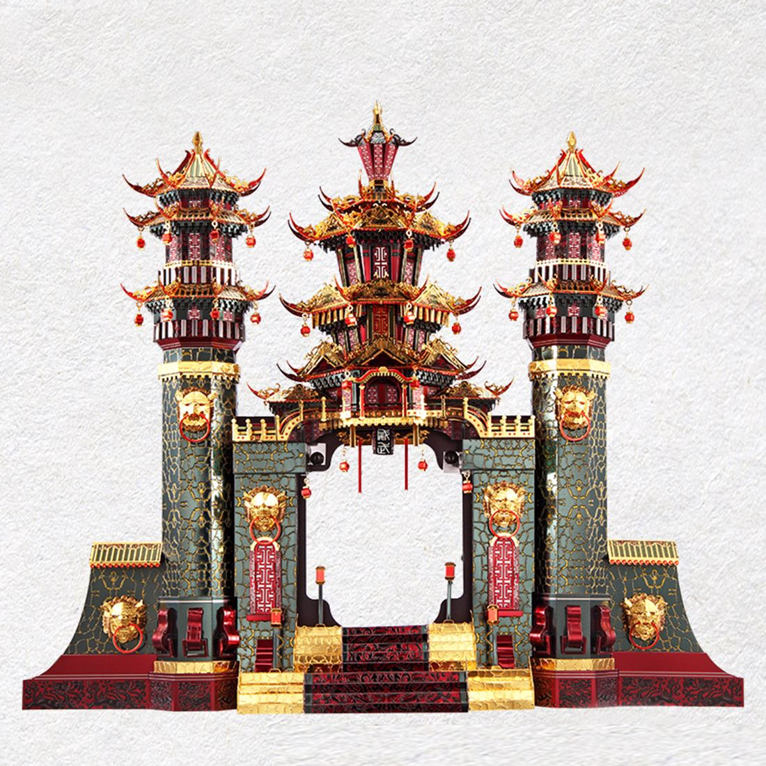 Архитектурная серия Южные ворота , модель, наборы, сделай сам, 3D металлические пазлы, сборная головоломка, игрушка, модель, обучающая игрушка, подарок для детей и взрослых - 2