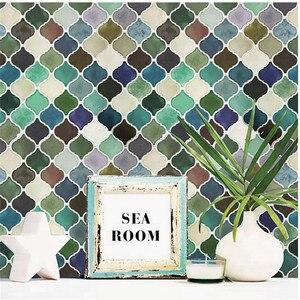 Мозаичная настенная плитка, самоклеящаяся накладка, сделай сам, для кухни, ванной, дома, настенная наклейка, виниловая 3D #10