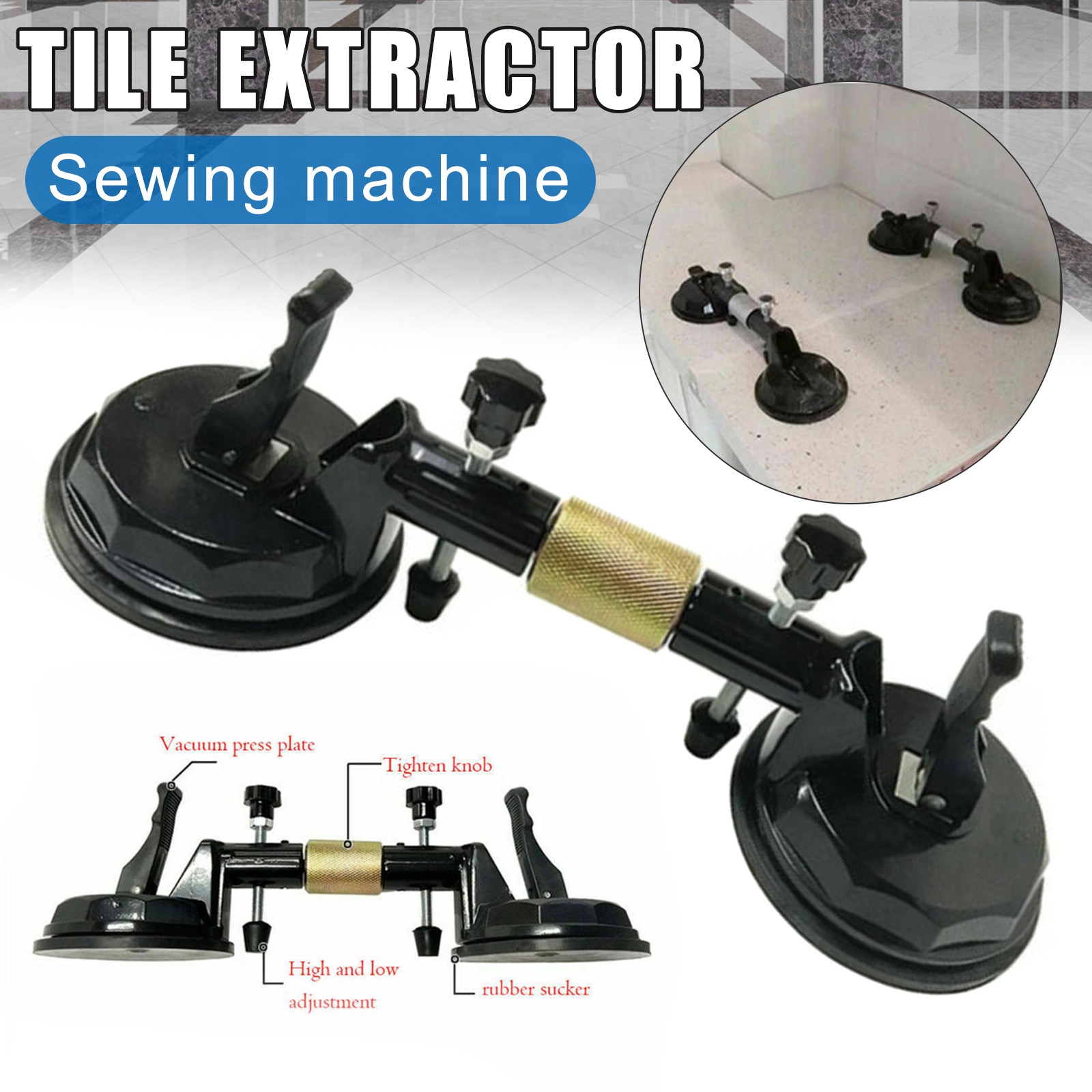 Adjustable Suction Cup Stone Seam Setter for Pulling and Aligning Tiles Flat Surfaces Stone Seam Setter Building Tools