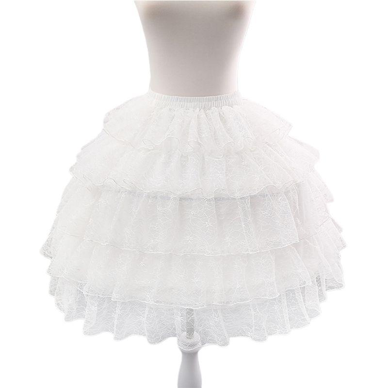 rendas curto petticoat lolita cosplay agitação underskirt