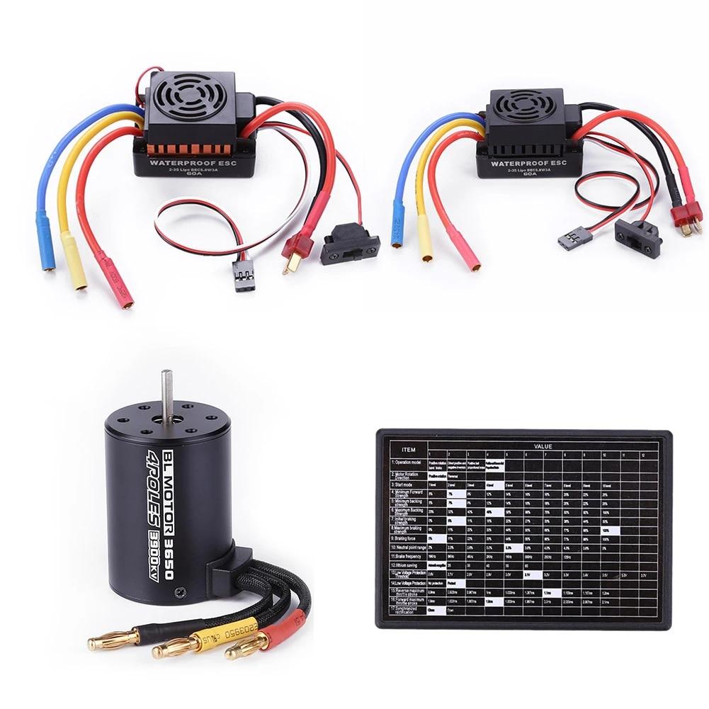 Brushless Motor Waterproof ESC Programming Card for RC Car Accessories