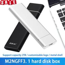 USB 3.1 Type-C To M.2 NGFF SSD Mobile Hard Drive Disk Box 10Gbps External Enclosure Case For M2 SATA SSD USB 3.1 2280