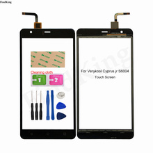 Mobile Touch Screen For Verykool Cyprus jr S6004 Touch Screen Panel Front Glass Digitizer Panel Glass Lens Sensor Tools Adhesive