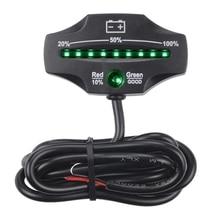 12 В 24 в светодиодный тестер для батарей Индикатор батареи датчик уровня батареи монитор для гольф тележки водный мотоцикл вилочный погрузчик