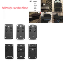 Glock Rubber Grip Glove Combo Reflex Red Dot Sight Mount Base Adapter for Glock Colt