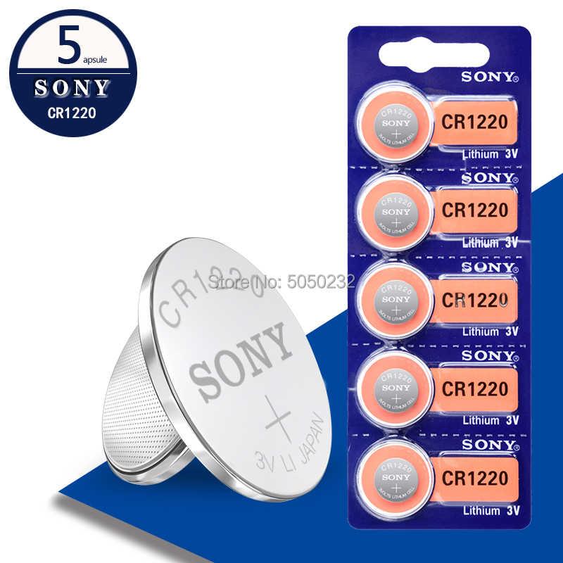 5 Cái Cho Sony 3 V CR1220 Lithim Pin Li-ion DL1220 BR1220 ECR1220 LM1220 KCR1220 L04 5012LC Nút Đồng Tiền Tế Bào BATERIA Thay Thế
