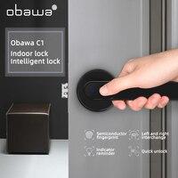 Obawa Biometric Fingerprint Door Lock Safe Home Semiconductor Sensitive Office Smart Electronic AntiTheft Indoor lock Durable