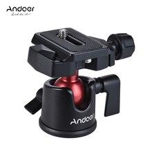 Andoer Mini Ballheadขาตั้งกล้องขาตั้งอะแดปเตอร์W/จานด่วนสำหรับCanon Nikon Sony DSLRกล้องกล้องวิดีโอ