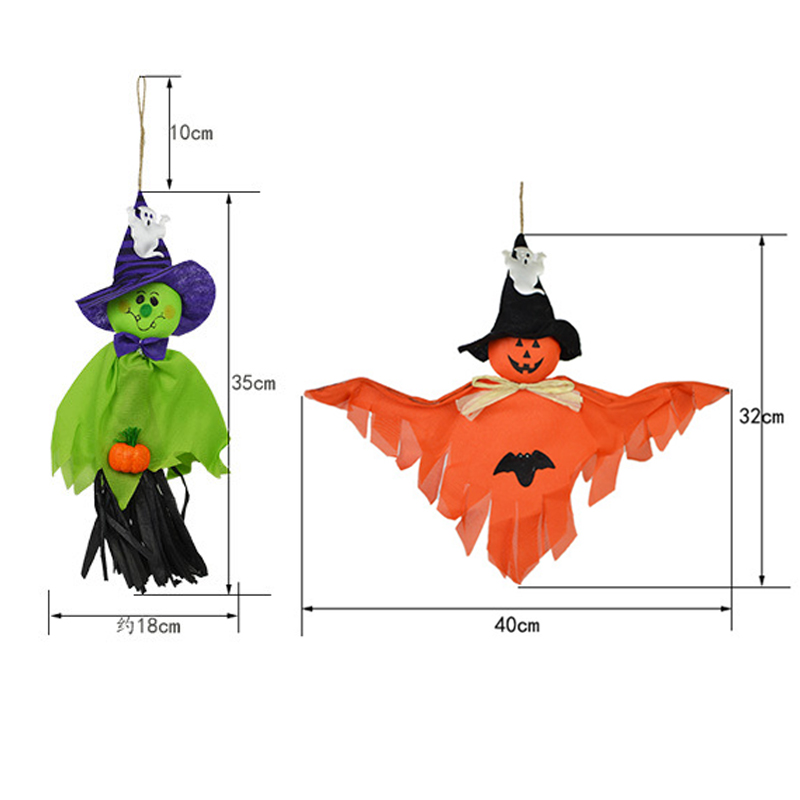 Hc61569e0edda46409e549a0e35dff38cF - 1pc Halloween Ghost Hanging Decoration Indoor Outdoor Specter Party Ornament Utility Pendant Props Halloween Event Party Decor