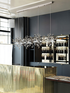 Image 5 - מודרני תליון אורות נירוסטה צל אוכל חדר תליון מנורת led luminaire suspendu מסעדת סלון לופט אור קבועה