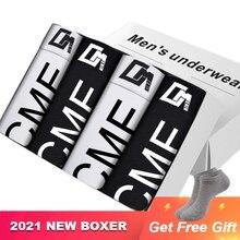 4 Teile/los Heißer Verkauf Baumwolle Unterhose Sexy Boxer Mann Unterwäsche der Männer Weichen männer Unterhose Boxershorts Männer Lange boxer mann CM212