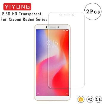 YIYONG 2.5D HD vidrio para Xiaomi Redmi 6 Pro 6A S2 Y2 protector de pantalla de vidrio templado película Xiomi Redmi 5 Plus 5A 3S 3 4 Pro 4A 4X