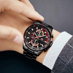 Image 5 - Orologio da polso al quarzo da uomo orologio da pilota di lusso di marca superiore cronografo militare calendario data resistente allacqua MINI FOCUS multifunzione