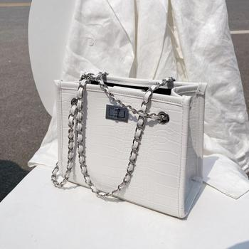 Crocodile Pattern Square Crossbody Bag 2020 New High-quality PU Leather Women's Designer Handbag Chain Shoulder Messenger Bag