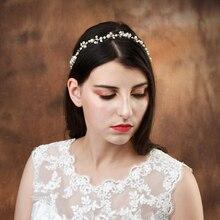 TRiXY H03 Wedding Hair Accessories Pearls Belt Bridal Ornaments Jewelry bride Headdress Headband