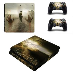 Image 2 - The Walking Dead PS4 Slim Stickers Play station 4 Skin Sticker Vinyl For PlayStation 4 PS4 Slim Console & Controller Skins Decal