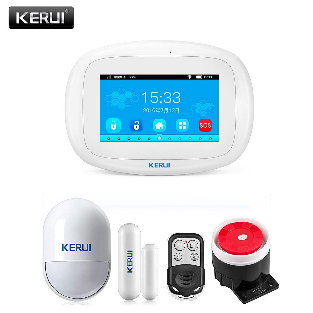 KERUI K52 Gsm Wifi 2G Alarm System Smart House Kit With Motion Sensor Remote Control English Language Built-in Siren 80dB Loud