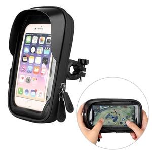 Image 2 - Untoom עמיד למים אופני אופניים טלפון הר תיק מקרה אופנוע כידון טלפון מחזיק Stand עבור 4.5 6.4 אינץ נייד סלולרי טלפונים