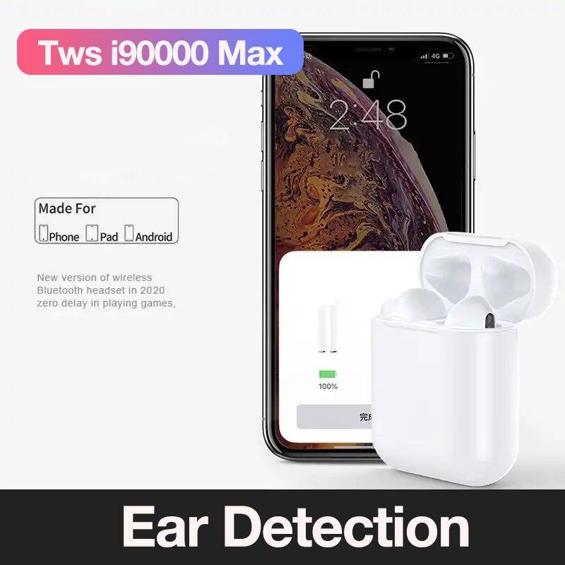 I90000 max TWS Drahtlose Kopfhörer Bluetooth Kopfhörer 6D Bass Touch control In ohr Ohrhörer PK W1 Chip i30 i12 i11 i10 i9s i7s TWS