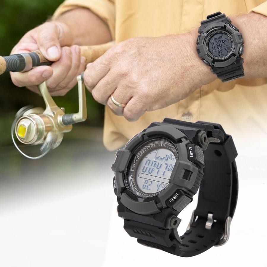 Relógio de Peixe Profissional Digital Altímetro Barômetro Termômetro Altitude Homem Relógios Digitais Esportes Relógio Escalada Caminhadas