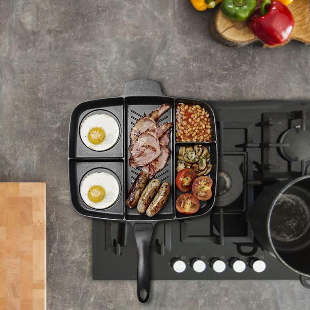 5 In 1 Multi-purpose Separation Non-Stick Fryer Pan 3