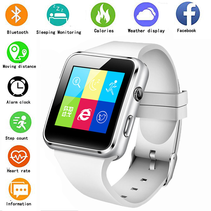 Watch Supports Whatsapp Smart Fashion SIM for iPhone Millet Tf-Card Multi-Language X6