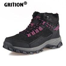 Boots Hiking-Shoes Trekking Height Incresing GRITION Outdoor Waterproof Women High-Top